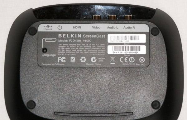 Belkin ScreenCast TV Adapter.